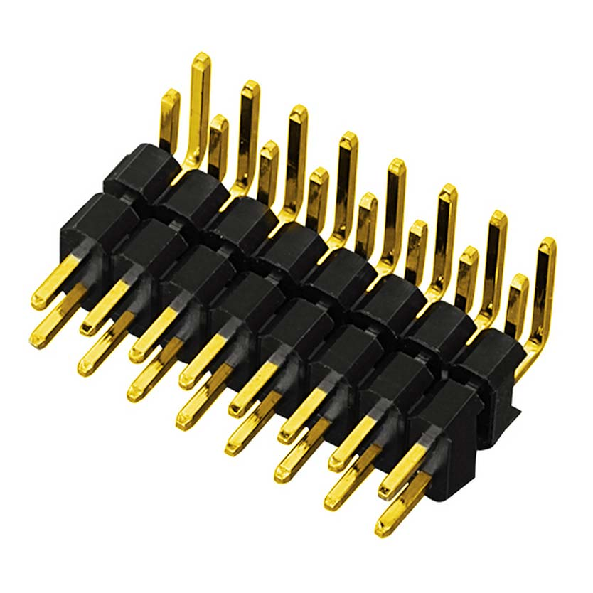 PH2.54mm Pin Header Dual Row Dual Body Right Angle Type Board to Board Connector Pin Connector