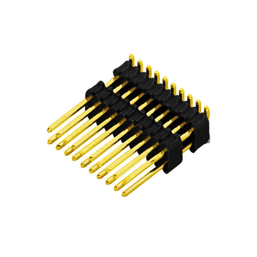 0.8mm Pin header H1.38mm, Dual Row Dual Body SMT Type
