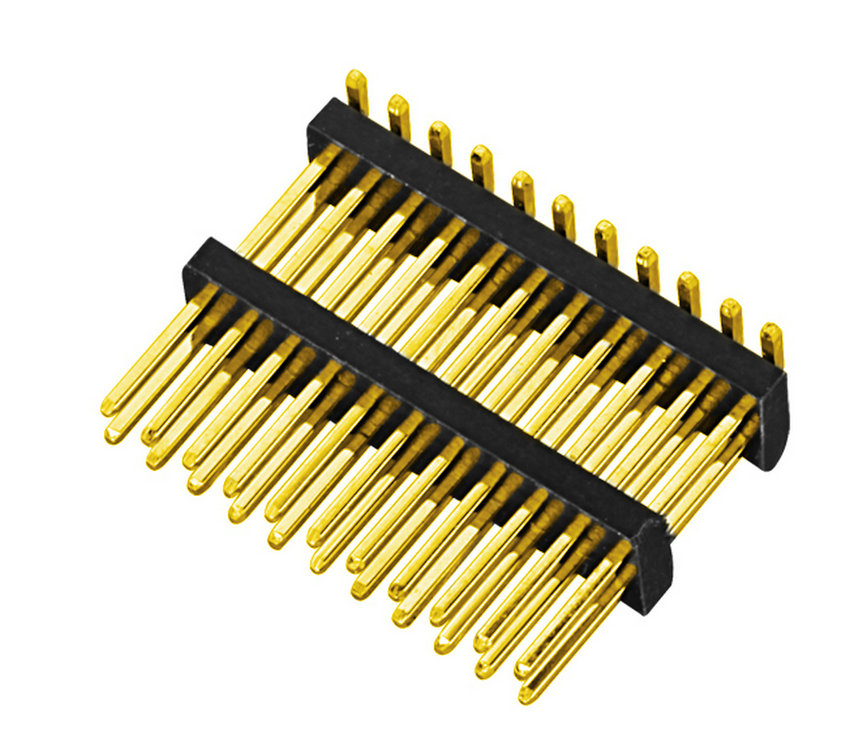 PH1.27mm Pin Header, Dual Row Dual Body SMT Type with Post Pin Connector