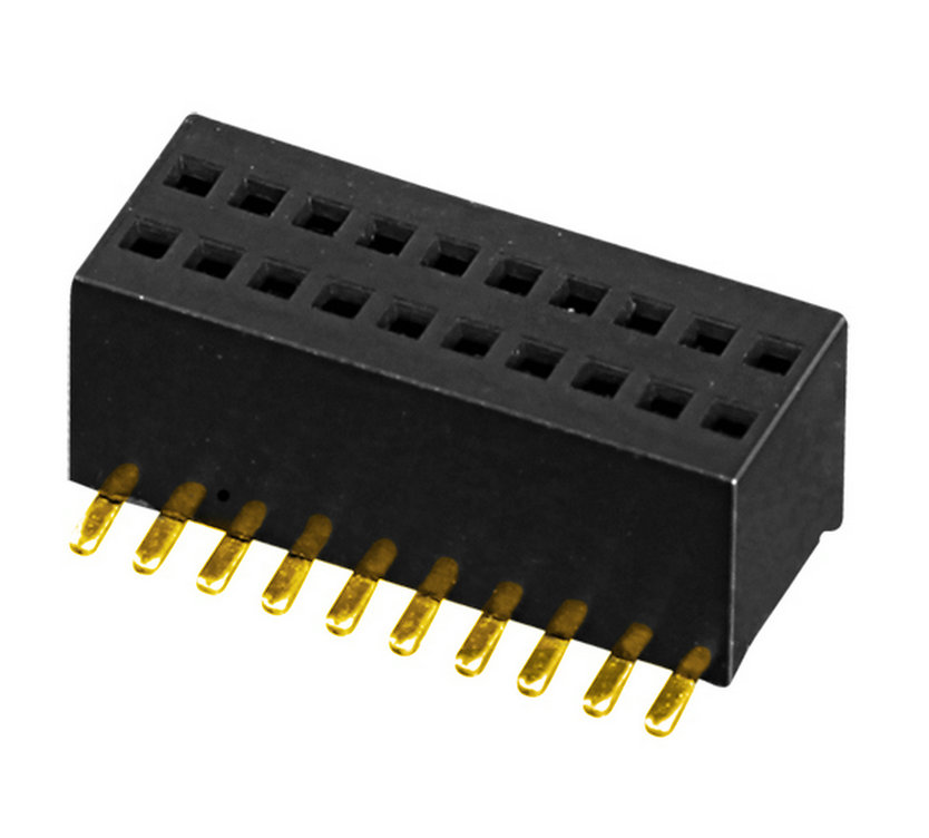 PH0.8mm Female Header H=2.6mm Dual Row U-type SMT-type Board to Board Connector