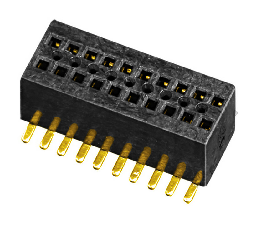 PH0.8mm Female Header H=2.6mm Dual Row U-type SMT-type with Post Board to Board Connector