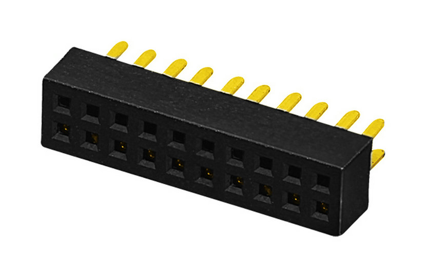 PH1.0mm Female Header H=2.0mm U-type Dual Row Straight-type Board to Board Connector