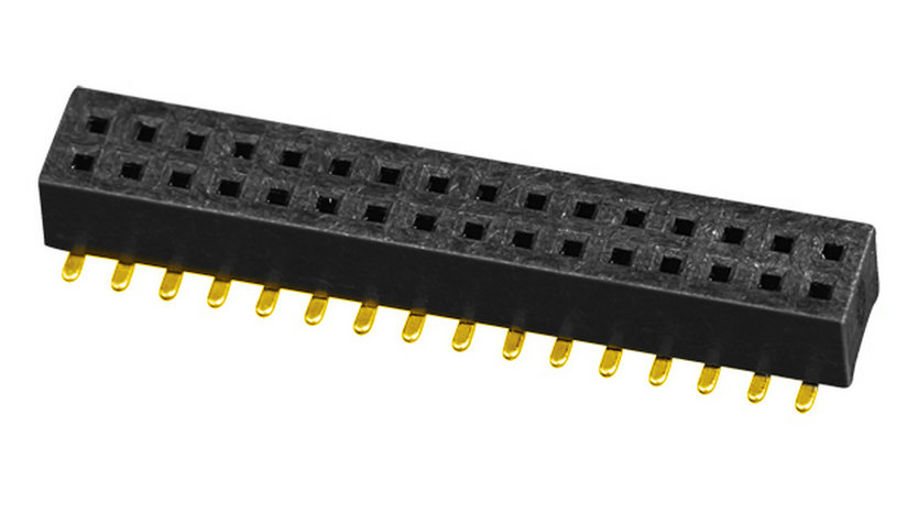 PH1.0mm Female Header H=2.0mm Dual Row U-type SMT-type with Post Board to Board Connector