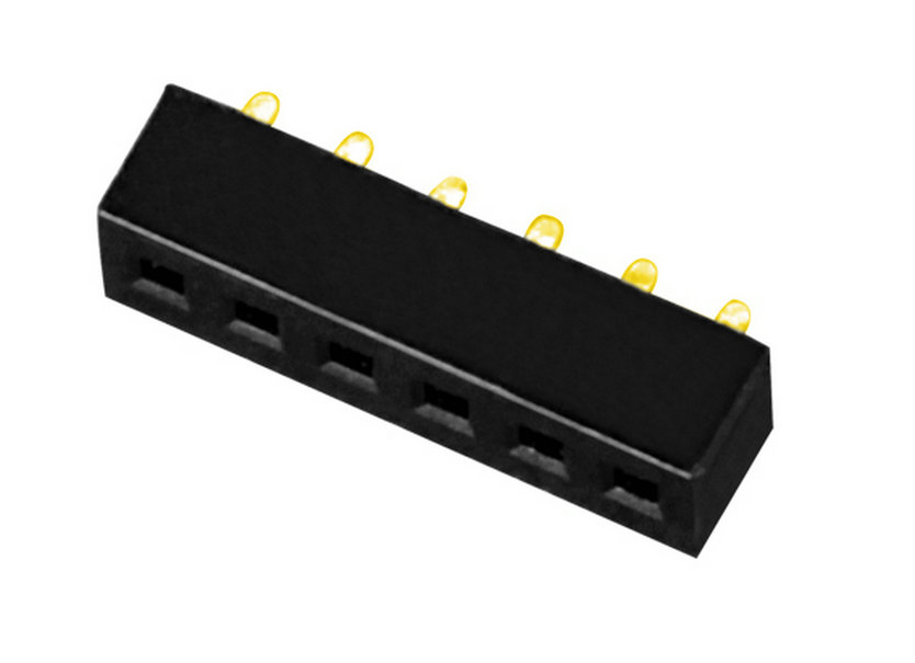 PH1.27mm Female Header  Single Row U-type Straight-type Board to Board Connector