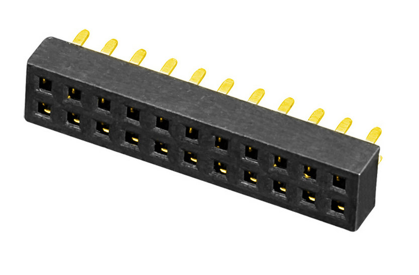 PH1.27mm Female Header Dual Row U-type Straight Type Board to Board Connector
