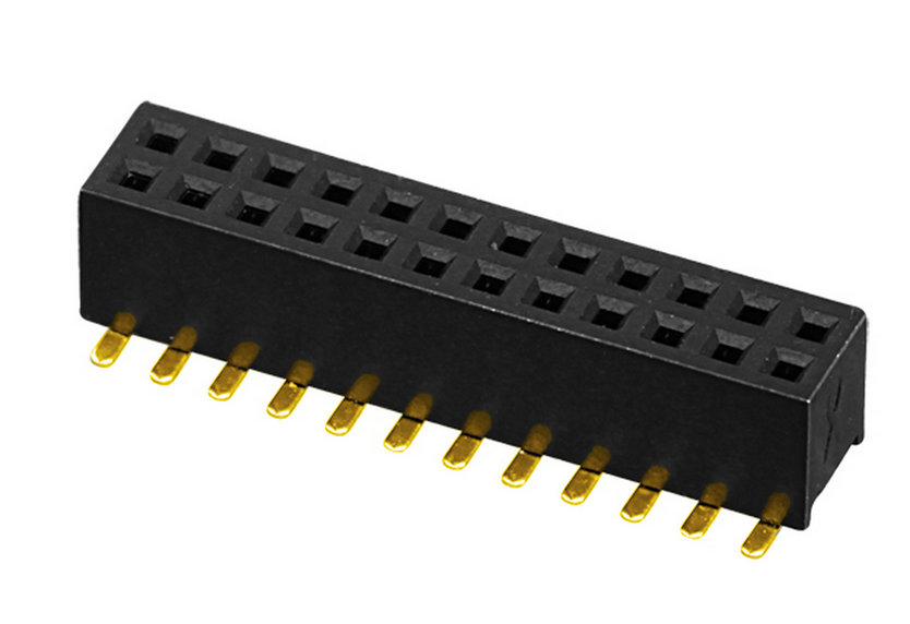 PH1.27mm Female Header H=3.4mm Dual Row U-type SMT Type Board to Board Connector