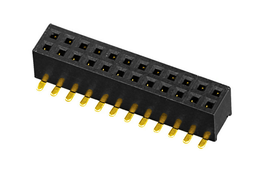 PH1.27mm Female Header H=3.4mm Dual Row U-type SMT-type with Post Board to Board Connector