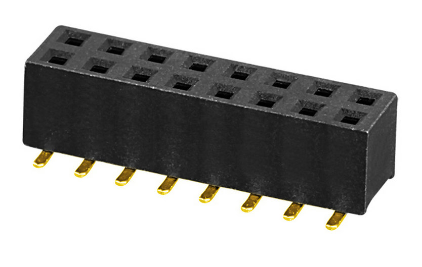 PH2.0mm H=2.0,4.0,4.3,4.6,7.2mm Female Header U-type Dual Row SMT Type with post Board to Board Connector