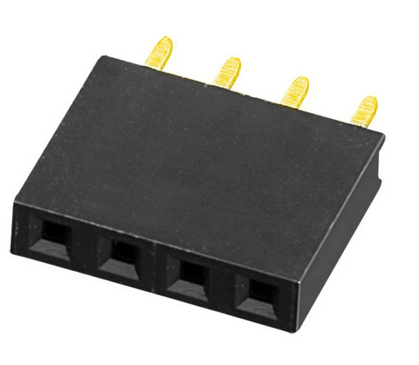 PH2.54mm H=3.55, 5.0, 7.1, 7.5, 8mm Female Header U-type Single Row Straight Type