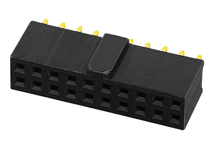 PH2.54mm H=6.5mm Female Header with Bump Y-type Single Row Straight Type Board to Board Connector