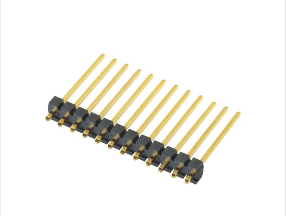 3.96mm Pin Header H=3.2 Single Row Straight Type