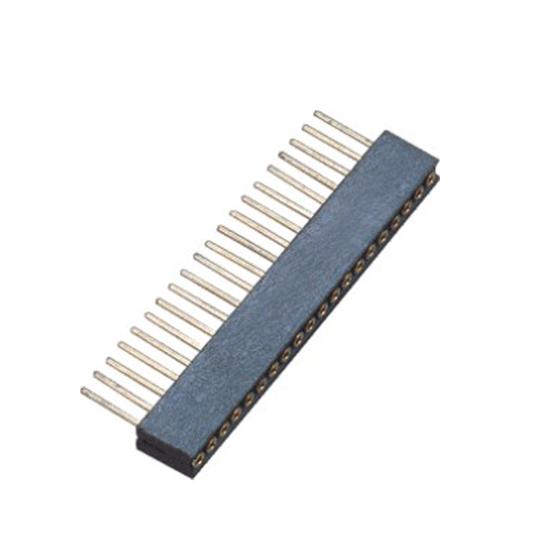PH1.27mm Machined Female Header H=4.1 Single Row Straight Type
