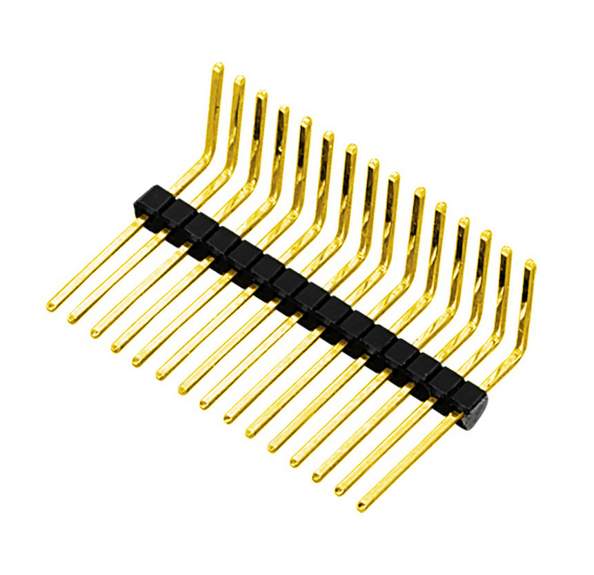 PH1.0mm Pin Header H=1.0mm Single Row Right Angle Type