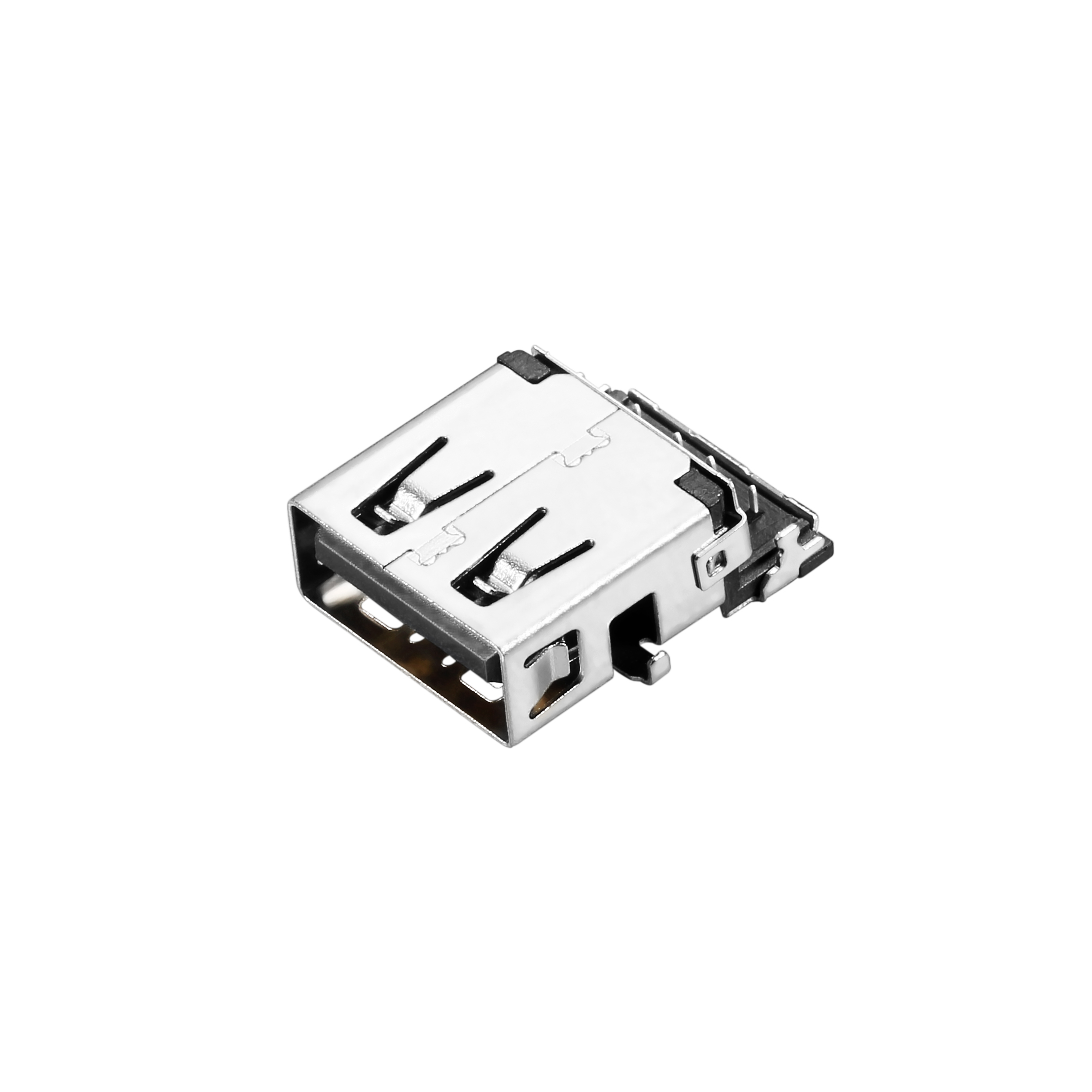 USB 3.0 A-type, Female, Sinking Board Type, CH=2.35mm, I/O Connector